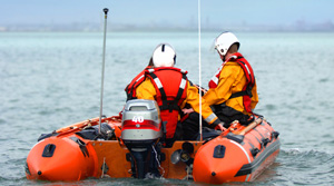 RNLI lifesaving RIB